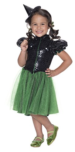 Glitz And Glamour Costumes (Rubie's Costume Wizard of Oz Wicked Witch Sequin Dress Child Costume, Toddler)