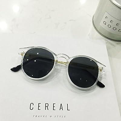 LXKMTYJ Les lunettes à la mode transparent fort avant-garde retro big box  visage rond lunettes retro lunettes rondes, blanc transparent 41f662a863f4