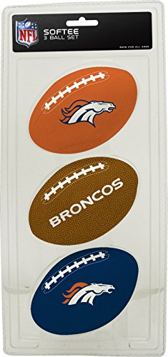 NFL Denver Broncos Kids Softee Football (Set of 3), Small, Blue