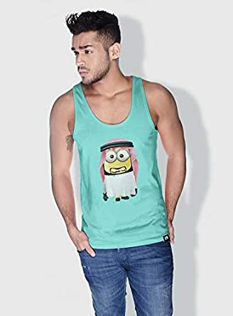 Creo Uae Minions Vshape Neck T-Shirt For Men - Green, M