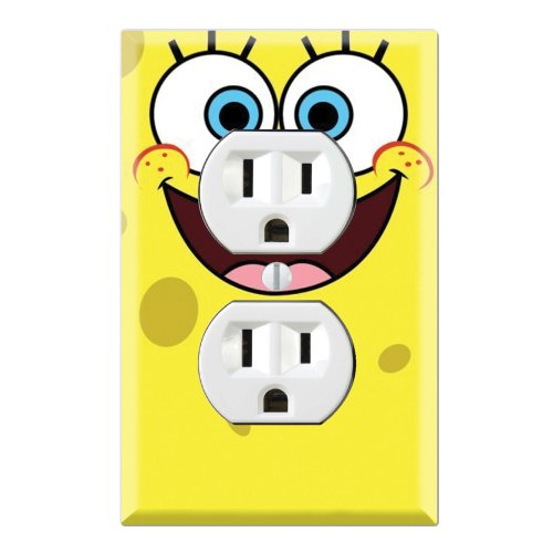 (Duplex Wall Outlet Plate Decor Wallplate - Spongebob Squarepants)
