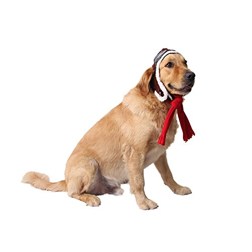 Pet Supplies Dog Hat Red Scarf Pilots Warm Hat (one size) by ABLAZE ZAI (Image #4)