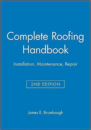 Complete Roofing Handbook: Installation, Maintenance, Repair: James E.  Brumbaugh: 9780025178519: Amazon.com: Books
