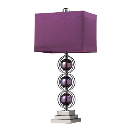 Dimond Lighting D2232 Alva Table Lamp, 27 x 12 x 27 , Purple and Black Nickel Finish