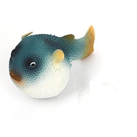 Pecera acuario submarino flotante artificial del pez globo azul Decoración: Amazon.es: Productos para mascotas