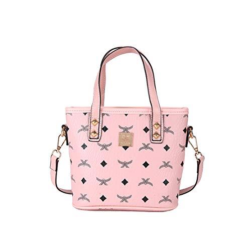 Capacidad De Pu Excursión Handbag Rosa Bandolera Gran Ligero Bolsa Bolso Cuero Hombro Mujer Casual Al Shopper Layxi Shoulder Bags Resistente Desgaste xZHEqwzX