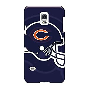 Shock-Absorbing Hard Phone Case For Samsung Galaxy S5 Mini With Provide Private Custom Trendy Chicago Bears Flat Helmet Image CharlesPoirier