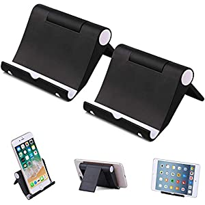 STRIFF Mini Mobile Stand, Set of 2 PCS Universal Foldable Pocket Size Plastic V Shaped Mobile Phone Desk Mount Holder, Foldable Vertical and Land Scale Mold Stand for Tablet and Smartphones