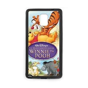 Samsung Galaxy Note 4 Black phone case Disney Cartoon Many Adventures of Winnie the Pooh EYB3568001