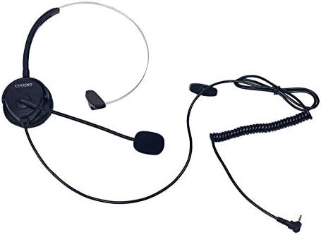 COODIO Teléfono Fijo inalámbrico DECT Auriculares [Manos Libres] 2,5mm Monaural Auricular con Micrófono [Cancelación de Ruido] Headset para Panasonic Gigaset DECT Teléfono con 2,5mm Jack: Amazon.es: Electrónica