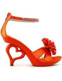 Strappy Ankle Strap Bride Wedding Dancing Heart Heels Sandals,SM33101