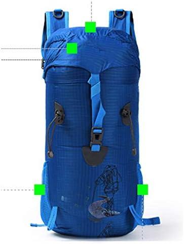 多機能レジャーバックパック/屋外ハイキングバッグバッグバックパック男性と女性のスポーツレジャーバッグ/ 52 * 22 * 21 cm 絶妙 (色 : Blue)