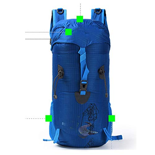 LUCY STORE Arder Outdoor Hiking Bag Topping Assault Bag Backpack Backpack for Men and Women Sports Multifunctional Leisure Backpack Relaxed (Color : Blue)
