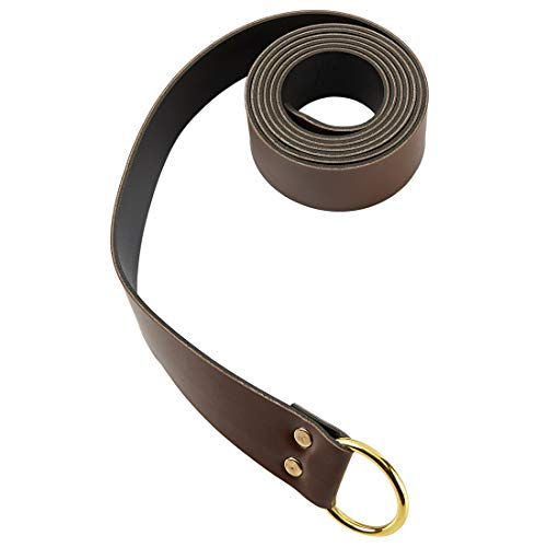 KOGOGO Medieval Knight Leather Belt Mens Reenactment Accessory Brown