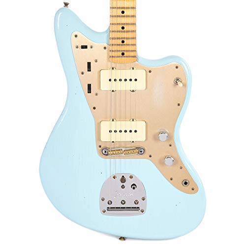Fender CS 2018 Time Machine '50s Jazzmaster MN Faded Daphne Blue (Serial #CZ536600) ()