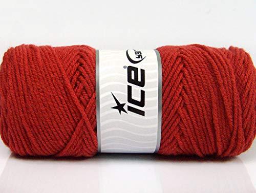 Lot of 4 x 100gr Skeins ICE Saver 100 Hand Knitting Yarn Terra Cotta