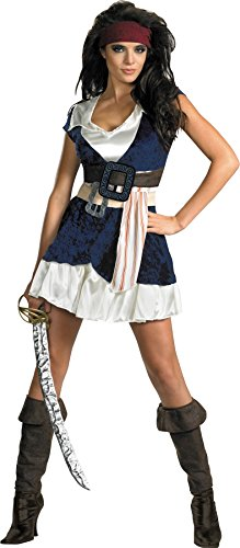 UHC Women's Disney Pirates Of The Caribbean Sassy Jack Sparrow Fancy Costume, Plus (Disney Villains Costumes-women)