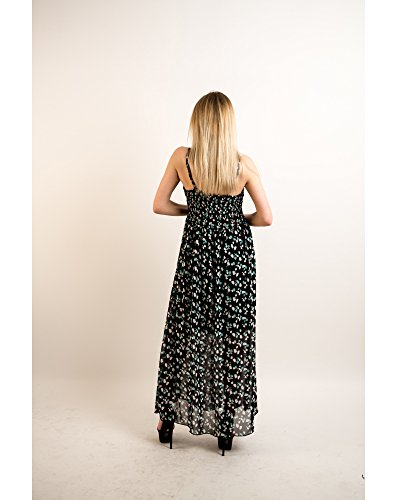 Blue Para Vestido Products Exceptional Print Mujer Leaves IE0zpIwqx