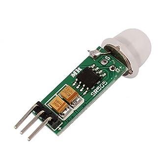 DealMux Mini Pyroelectric PIR Módulo Sensor IR Infrared Sensor de Movimento 3m-5m
