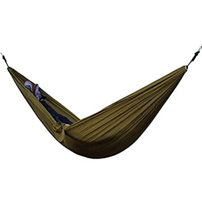 Hammock, LuckyZ 107''x 55'' Ultralight Portable Nylon Parachute Multifunctional Lightweight Hammocks with Carabiners and Tree Ropes For Garden Backpacking Camping Hiking Travel Beach and Yard