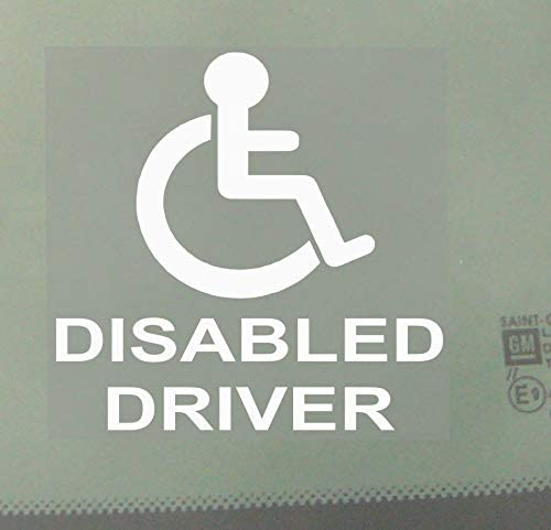 Disabled Driver-Car,Van Sticker-Disability Mobility Scooter Logo Sign Outline