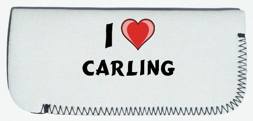 Glasses Case with I Love Carling (first name/surname/nickname) SHOPZEUS