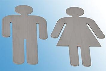 cartel indicador de hombre + Mujer Acero Inoxidable Puerta ...