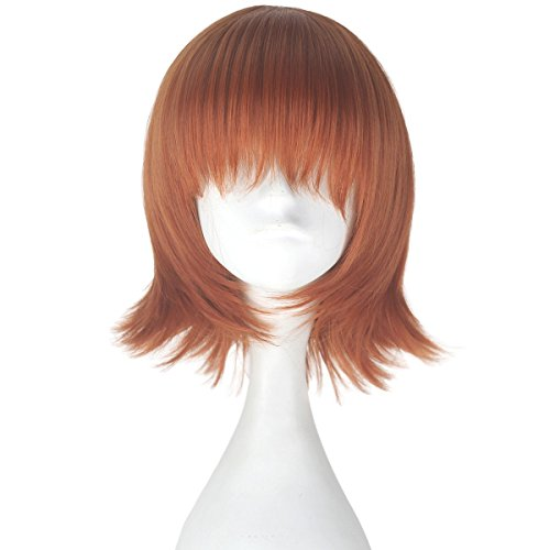 Miss U Hair Unisex Synthetic Short Straight Hair Multi-color Cosplay Costume Wig (Auburn)