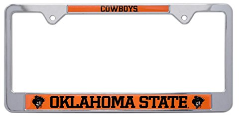 All Metal NCAA OSU Cowboys Mascot License Plate Frame (Oklahoma State)