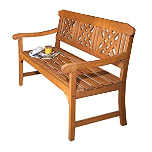 Robert Dyas 3 Seater Wooden Garden Fence Bench, FSC Approved Outdoor Furniture