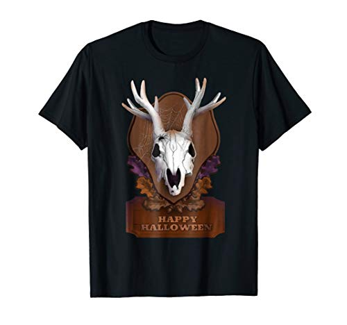 Deer Hunter Skull Head Happy Halloween DIY Costume T-Shirt]()