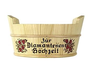 Amazon De Geschenkissimo Geschenkkorb Aus Holz Mit Namen Graviert