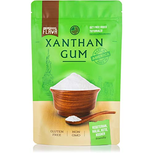 Made in USA Xanthan Gum (8 oz), Premium Quality, Food Grade Thickener, Non GMO, Gluten Free, Use in Cooking, Baking, Sauces, Soups and more. Suitable for Vegetarian, Kosher & Halal. Use for Keto Diet 7