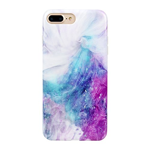 iPhone 7 PLUS Case for girls, Leminimo Unicorn Pink TPU Flexible Case For iPhone 7 Plus/iPhone 8 Plus [5.5 inch Display] - Pink Unicorn Pattern Slim Fit Snap On Full Protection Case