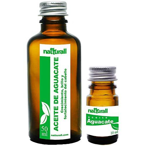 Aceite de Aguacate Para regenerar el cabello maltratado y la piel seca 100% Natturall 50 ml + 10 ml