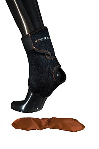 XT BRACE Ankle Hot & Cold Compression Ankle Wrap and Brace - Reduce Ankle Swelling, Use For Everyday Injury, Post Therapy and Surgery, Edema Brace and Physical Therapy. Medical Support and One-Size.