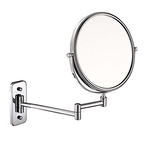 6/8-inch Bathroom Mirror Double Sided Makeup Mirror 3X, 5X,7X,10X/1X Magnification Wall Mounted Vanity Magnifying Mirror Swivel, Extendable For Bath, Spa And Hotel ( Design : 5x , Size : 6-inch ) by GAOLIQIN