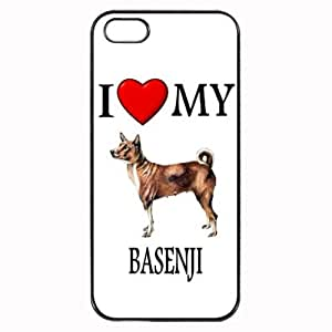 Custom Basenji I Love My Dog Photo iPhone 4 4S Case Cover Hard Shell Back