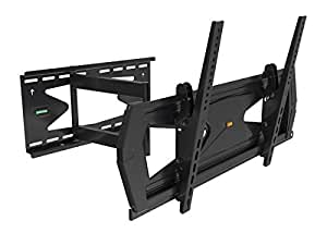 """Black Full-Motion Tilt/Swivel Wall Mount Bracket with Anti-Theft Feature for Sharp Aquos Quattron Smart TV LC-46LE810UN 46"""" inch LED-LCD HDTV TV/Television - Articulating/Tilting/Swiveling"""