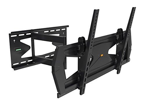 Black Full-Motion Tilt/Swivel Wall Mount Bracket with Anti-Theft Feature for Panasonic Viera TC-58LE64 58