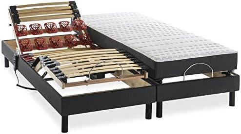 Deko Dream Conjunto Relajación colchón + somieres Madera de ...