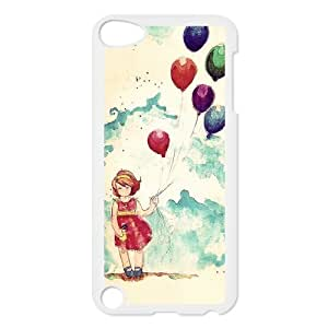 diy zhengDesign Case Balloon Girl Print on Hard Plastic Back Case Cover Ipod Touch 5 5th touch 5 Case Perfect as Christmas gift(5)