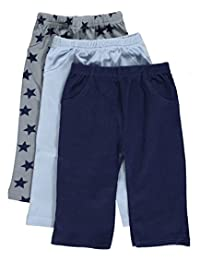"Luvable Friends Baby Boys' ""Star Variety"" 3-Pack Pants"