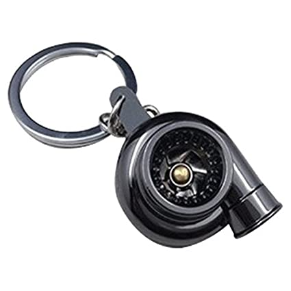 TOOGOO(R) Turbocharger Keychain Sleeve Bearing Spinning Golden Auto Parts Models Turbine Turbocharger Turbo Keychain Key Chain Ring Keyfob Keyring ...