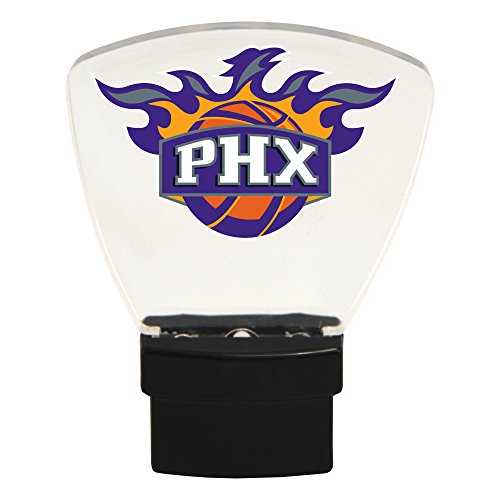 Authentic Street Signs NBA Officially Licensed-LED NIGHT LIGHT-Super Energy Efficient-Prime Power Saving 0.5 watt-Plug In-Great Sports Fan gift for Adults-Babies-Kids Room (Phoenix Suns) (Phoenix Lamp Suns)