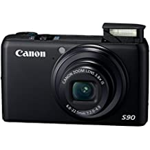 Canon PowerShot S90 10MP Digital Camera with 3.8x Wide Angle Optical Image Stabilized Zoom and 3-Inch LCD (OLD MODEL) (Certified Refurbished)