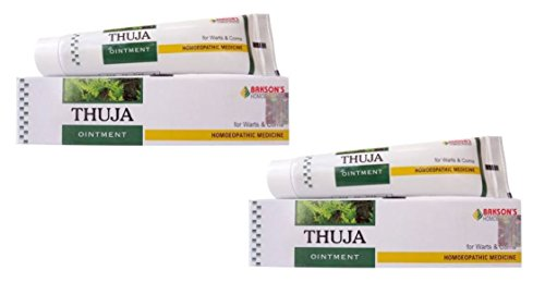 Pack of 2 - Bakson Thuja Skin Ointment for Warts, Corns, Polypi, Tubercles - 25g