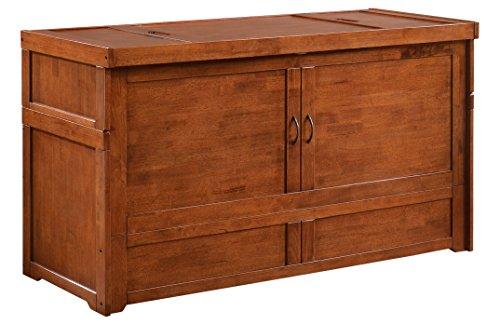 Night & Day Furniture MUR-CUB-QEN-CH-COM Murphy Cube, Queen, Cherry