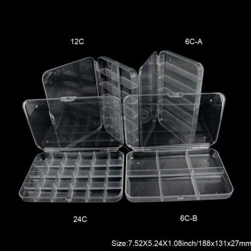 Large Clear 18 Compartment Fly Box