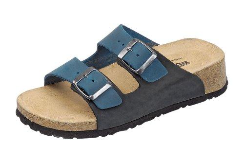 Sandalias Azul Reino Bio Unido Negro 6 cuña de Weeger IgxqwYIHr